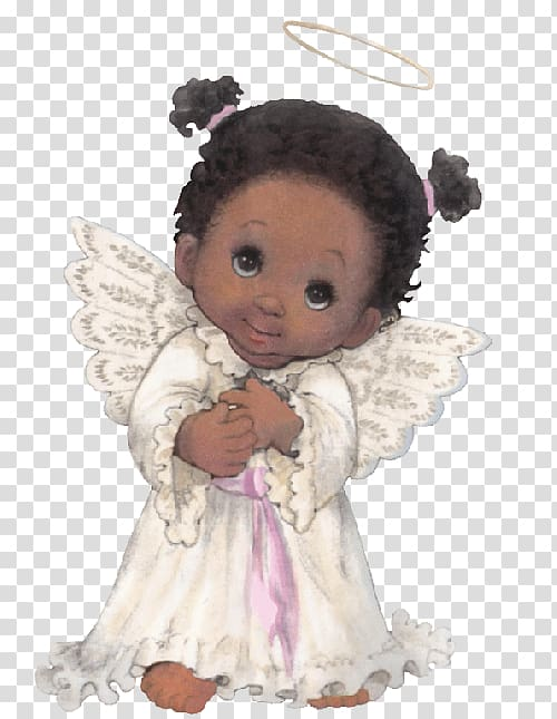 Precious Moments, Inc. Black Angel African American Art.