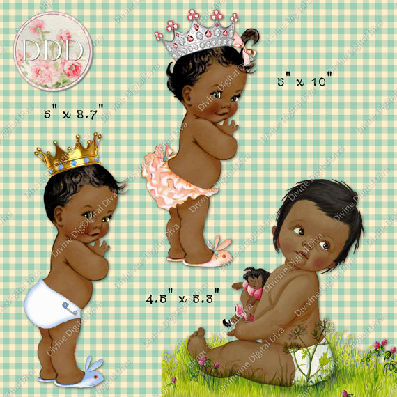 African American Baby Clipart.