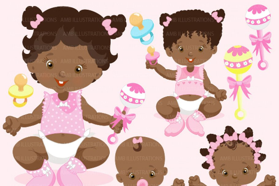 African American baby Girls AMB.