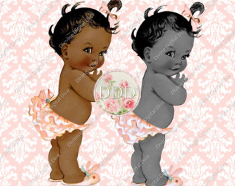 African American Baby Girl Clipart Free.