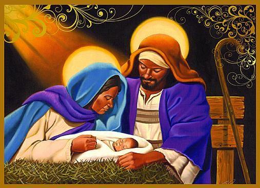 BLACK CHRISTIAN ARTWORK for christmas.