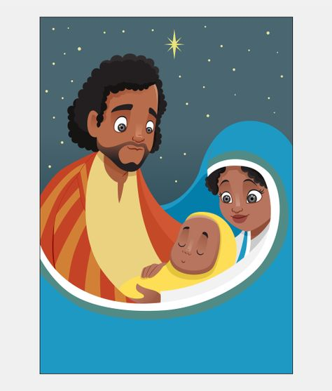 Holy Family African American Christmas Card Boxed Set.