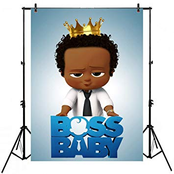Little Prince Boss Baby Backdrop African American 5x7 Photography  Background Birthday for Boy Black Photographic Backgrounds Boss Baby Photo  Pictures.