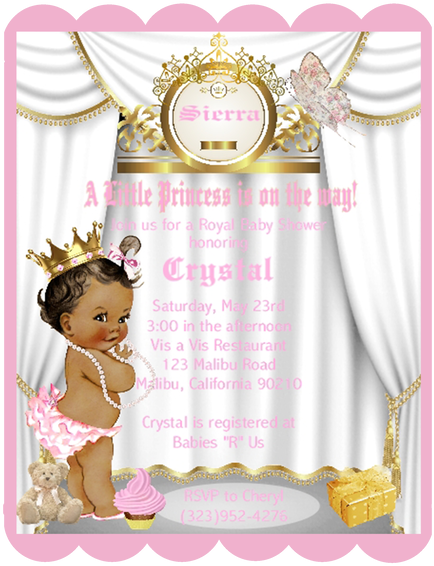 Little Princess African American Keepsake Baby Shower.