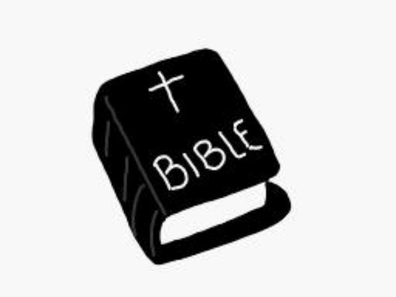 Bible Clipart Black And White.