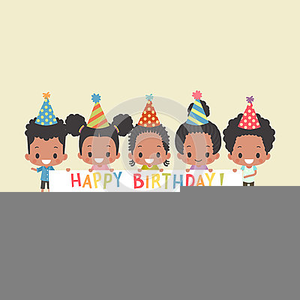 African American Happy Birthday Clipart.