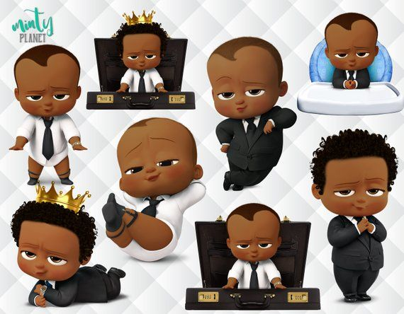 African American Boss Baby, Afro Boss Baby characters full.