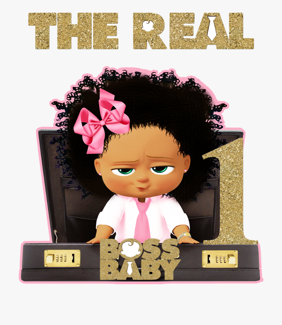 Boss Baby African American Girl, Cliparts & Cartoons.
