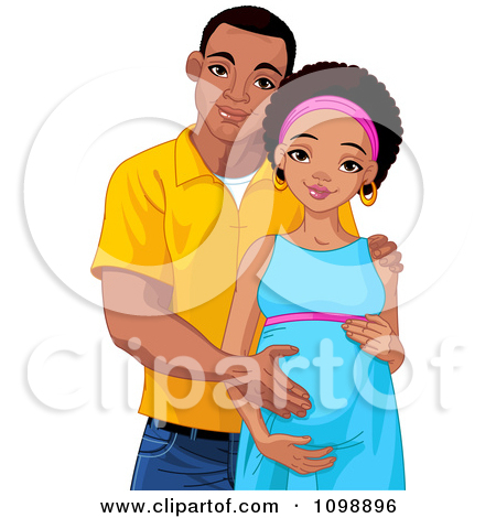 Free African American Boy And Mom Clipart.
