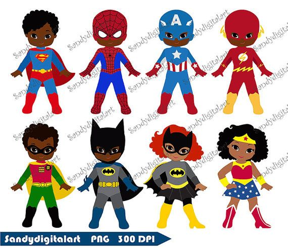 African American Superhero Clipart Superhero by.