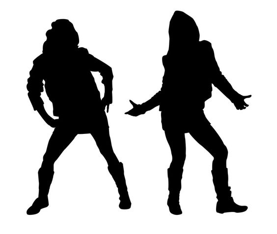 African American Teenage Dance Girl Clipart.