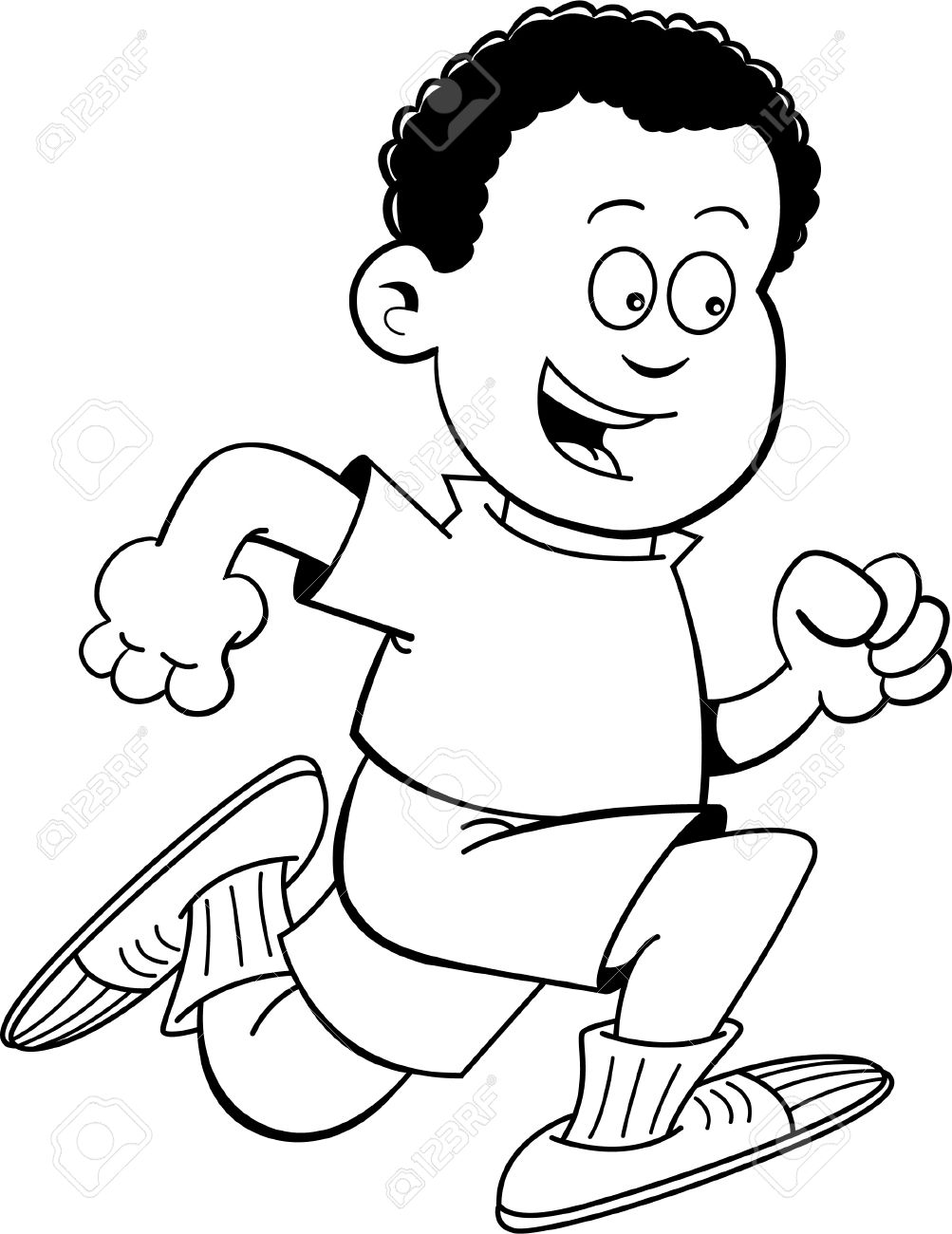 African American Boy Clipart Black And White.