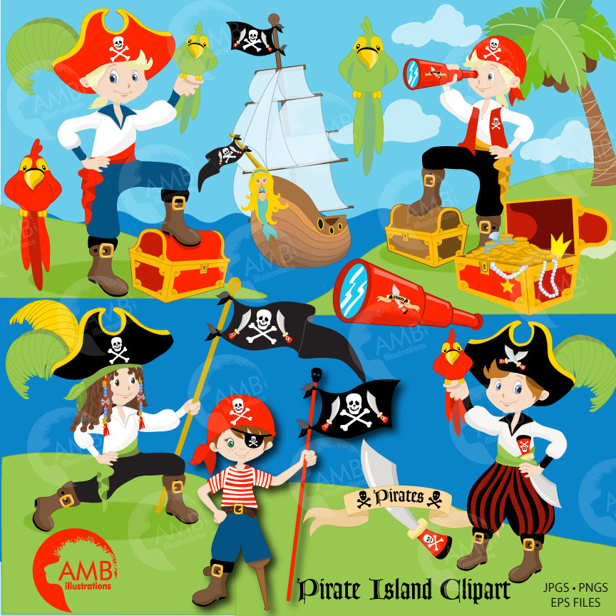 Pirate clipart, Boy Pirate, Buccaneer, Treasure Island, Pirate.