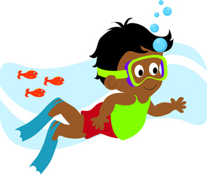 7055 Swimming free clipart.