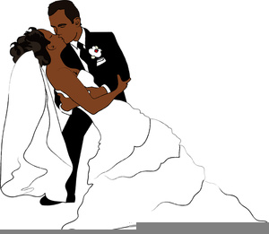 African American Bride Clipart.