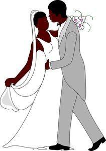 Bride clipart african american, Bride african american.