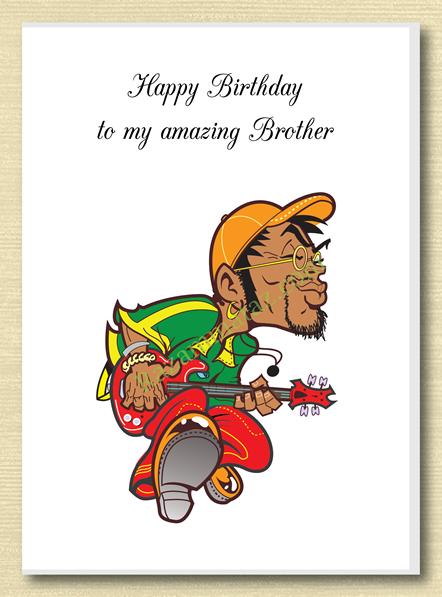African American Brother Birthday Card A.