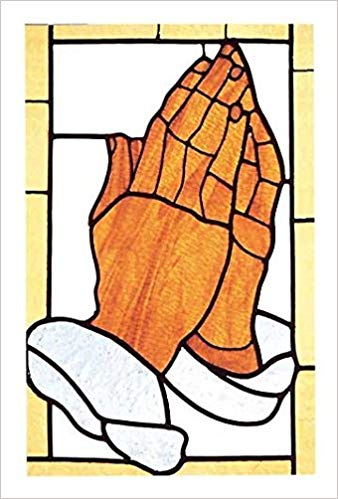 African American Praying Hands Bulletin, Regular Size.