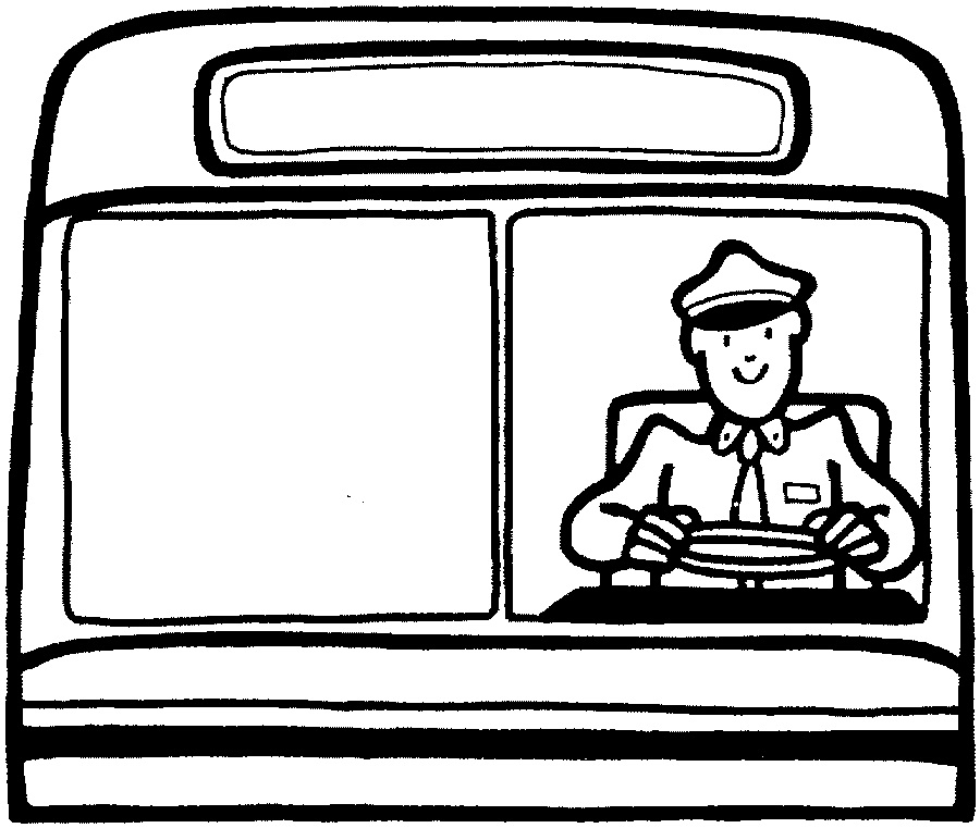 Free Bus Driver Clipart Black And White, Download Free Clip.