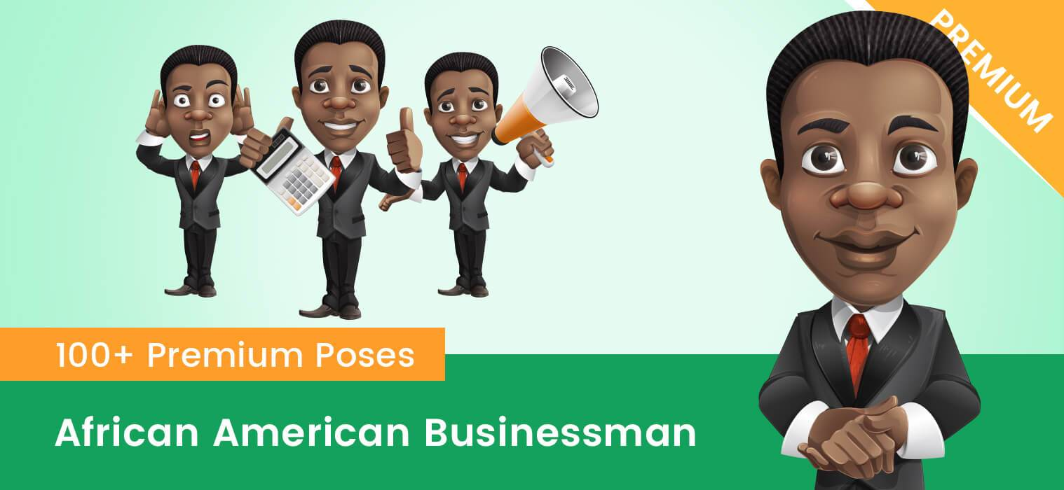 African American Businessman Clipart.