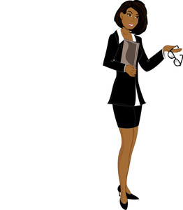 Businesswoman clipart african american, Businesswoman.