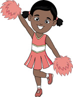 Cheer clipart african american, Cheer african american.