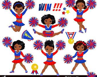Cheerleading clipart african american, Cheerleading african.