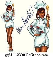 African American Chefs Clip Art.