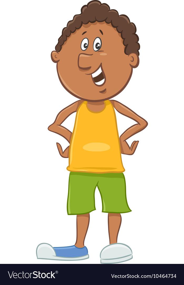 African american boy cartoon.