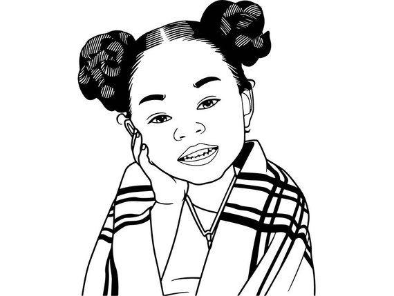 Pin on Little Black Girl SVG Files.