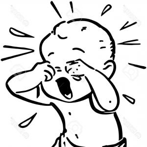 Boy Crying Clipart Black And White.