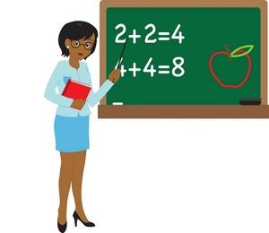 African American Teacher Clipart.