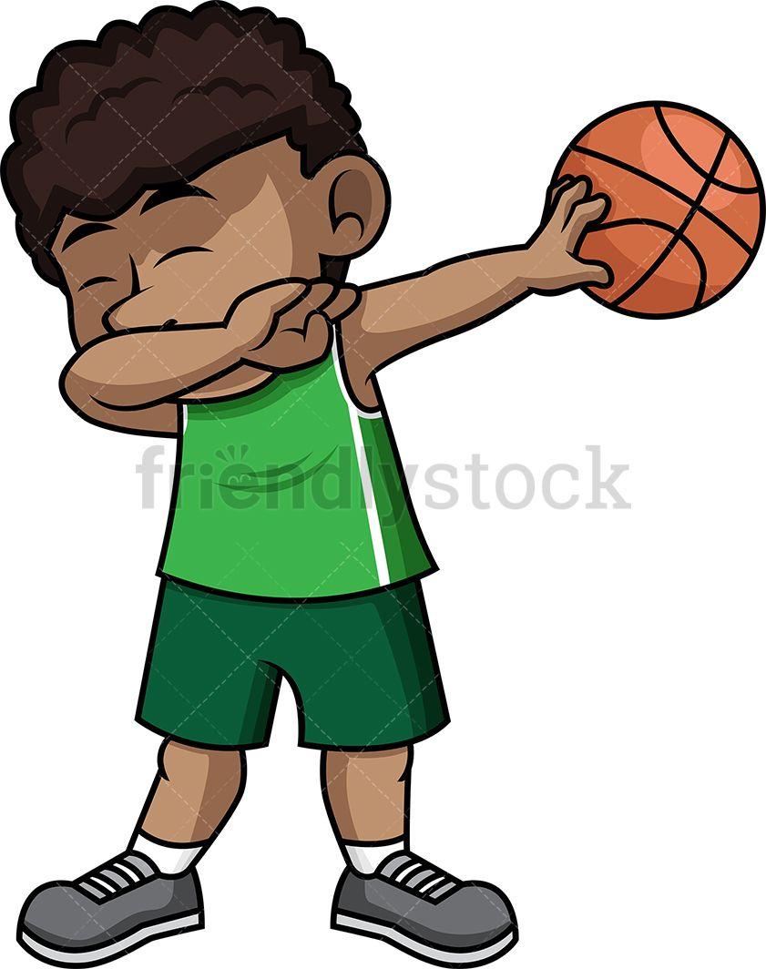 Black Basketball Boy Dabbing in 2019.