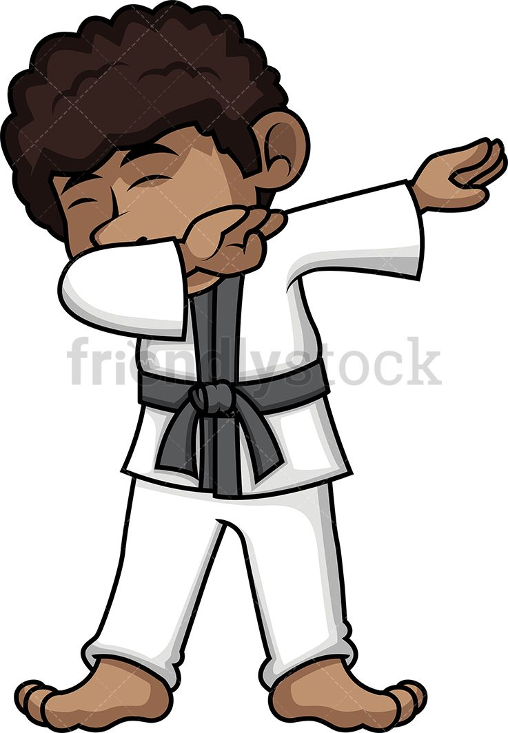 Black Karate Boy Dabbing in 2019.