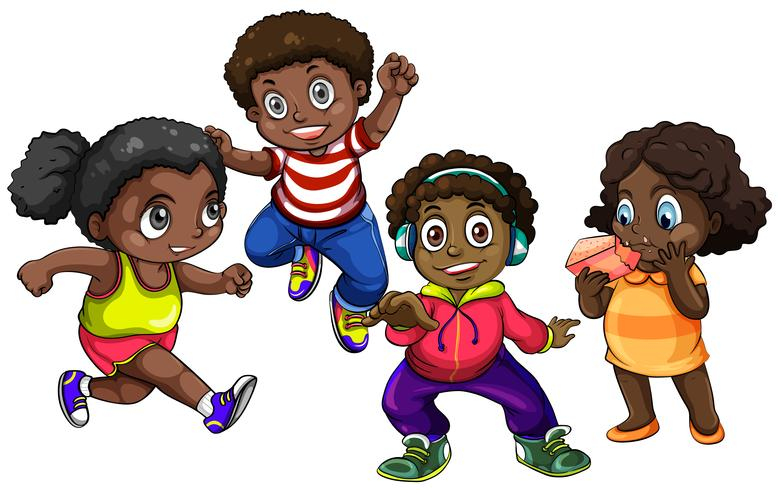 African American boys and girls.