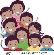 African American Kids Clip Art.