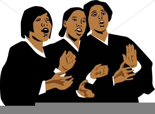 African American Choir Singing Clipart.