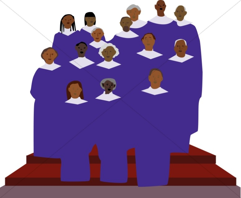 African american choir clipart.