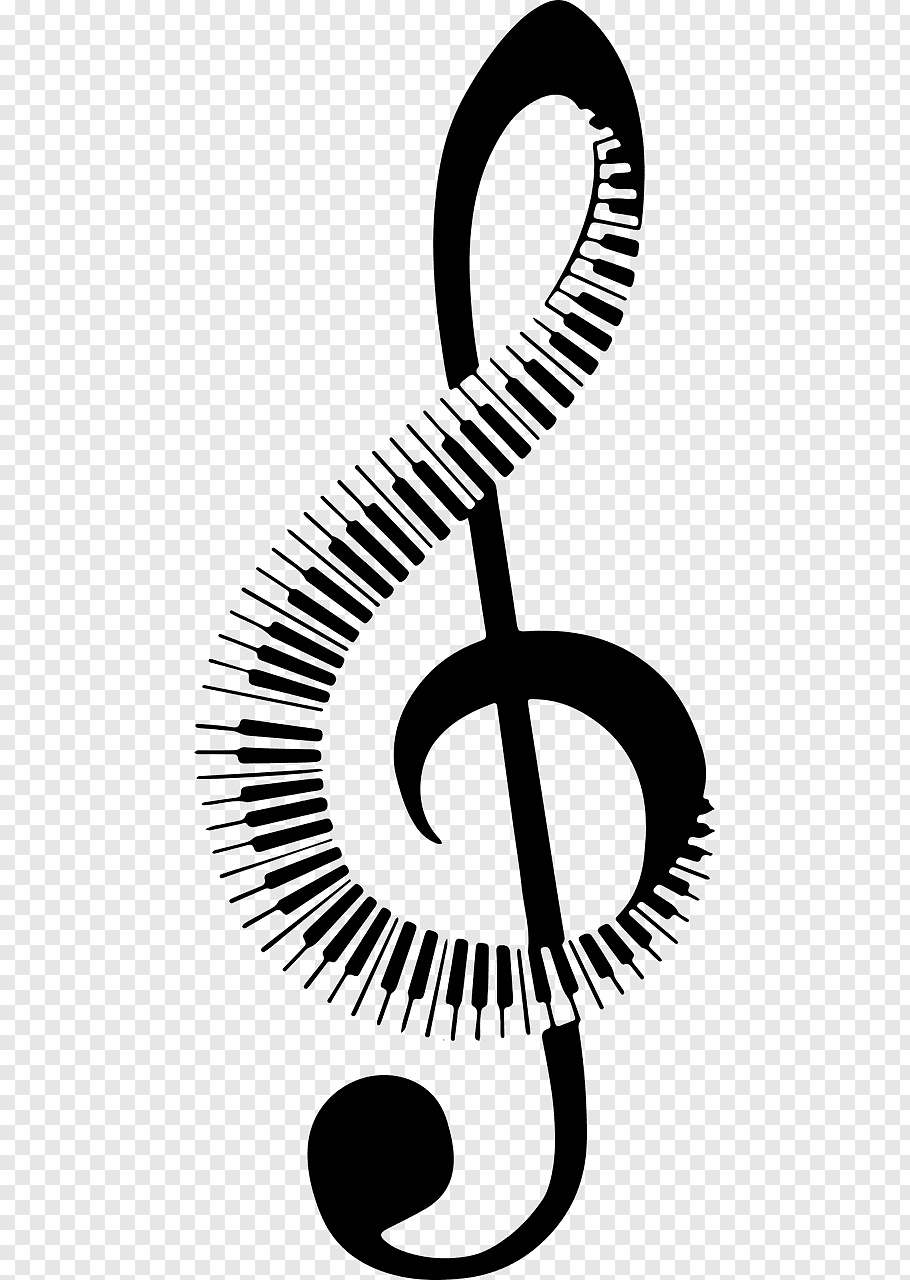 Musical note Piano Keyboard, musical note free png.