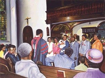 African American Christian Youth Clipart.