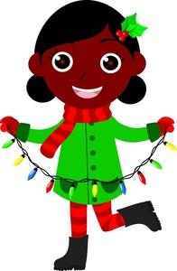 Christmas clip art african american.