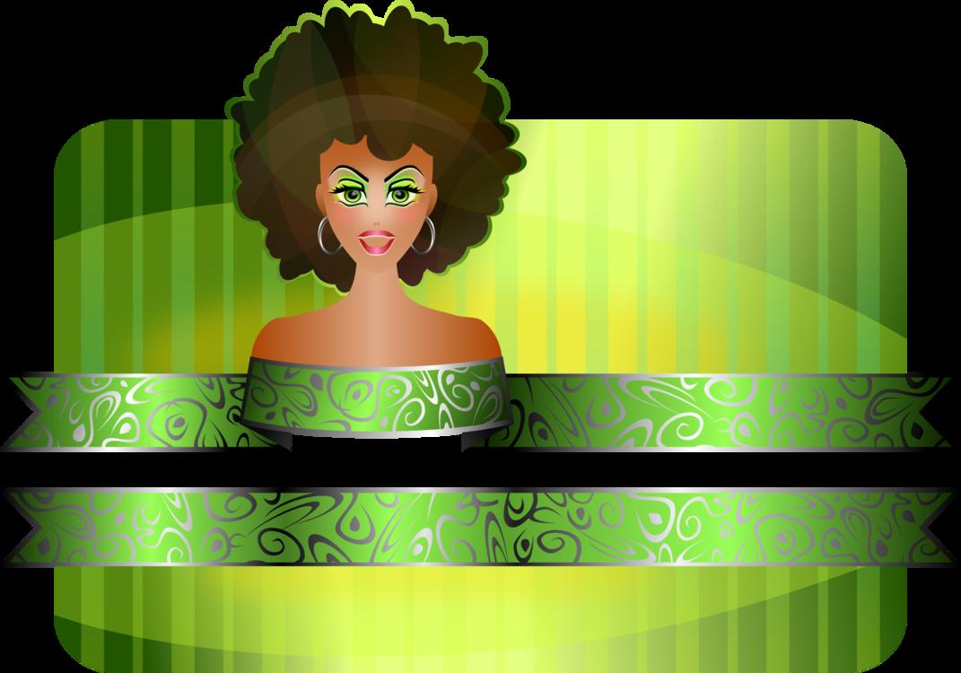 Plant,Black Hair,Logo Vector Clipart.