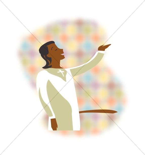 African American Choir Singer.