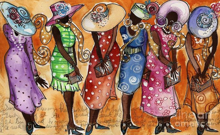 african american church ladies clipart #2