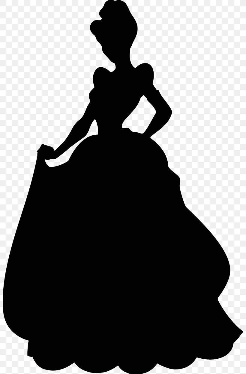 Cinderella Silhouette Disney Princess, PNG, 800x1244px.