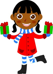 Merry Christmas African American Clipart.