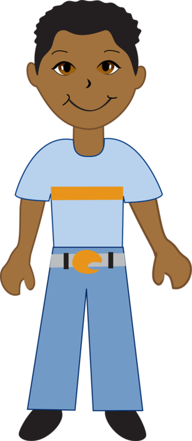 African American Boy Clipart.