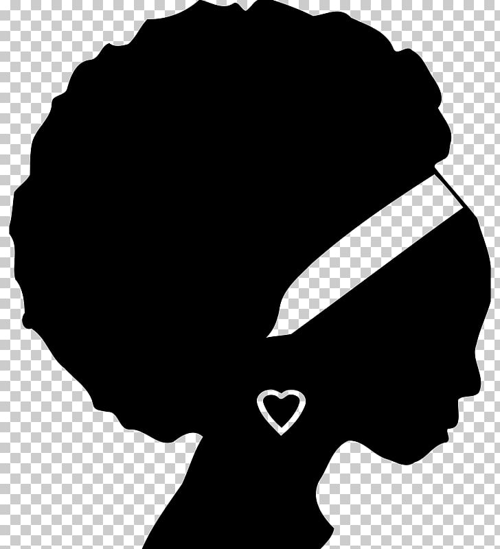 African American Silhouette Black , Silhouette PNG clipart.