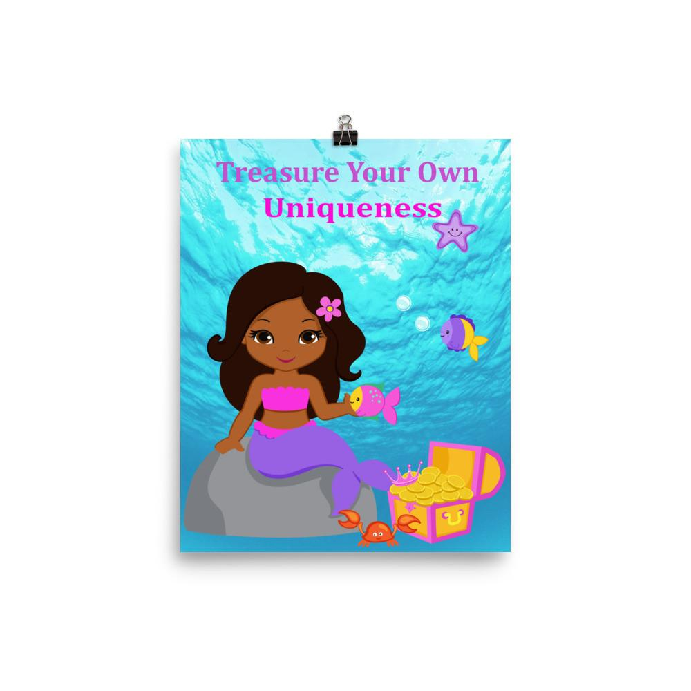 African American Mermaid_Treasure Poster.