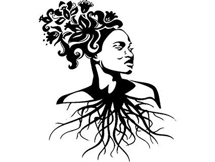 Amazon.com: EvelynDavid Black Woman Flowers Hair Tree Root.